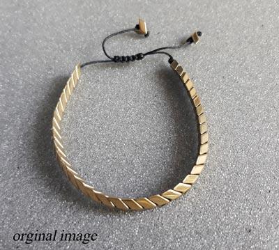 دستبند سنگ حدید طلایی کد 1325