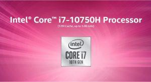 پردازنده intel core i7-10750H